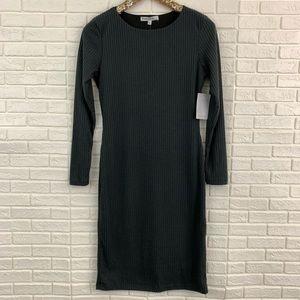 Velvet Torch ribbed soft knit bodycon midi dress